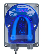 Knight KMP-DD, Mini-Pro detergent pump, digital push button setting, .4 to 4.1 oz/min, 20-240 VAC