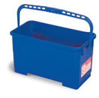 Blue Utility / Squeegee Bucket, 6 Gallon and CON 2560 Wheel Kit