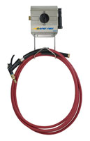 DEMA Rapid Fire Wall Mounted Spray and Foam Dispenser with 25' Red Outlet Hose, 6' Inlet Hose, Pistol Valve Spray Gun and Foam W