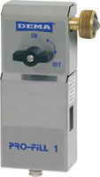 DEMA Pro-Fill Single Sink Dispenser with 1 GPM Proportioner with GHT Water Inlet Air Gap Model