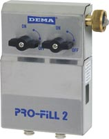 "DEMA Pro-fill Dual Dispenser - with 3/8"" Compression Water Inlet Fitting Water Inlet"