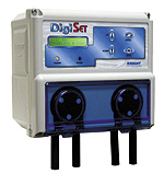 Knight DigiSet 3 product, Two Transformers dry detergent and rinse control sanitizer system, with plastic solenoid, installation