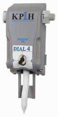 Knight KP1H 4-product dial 4 bottle fill station with bottle actuator. Aire-Gap 1 gpm.