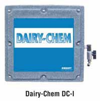 Knight DCIWS Dairy Chem teat dip dispenser in plastic case.